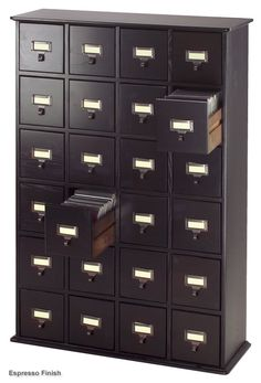 As the child of a librarian it's only natural that I should want a card catalog in my home. Not too bad at $259. Very tempting.