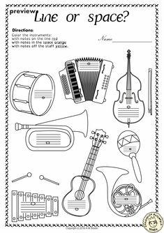 Music Worksheets Pack (Line-Space, High-Low) from Anastasiya Multimedia Studio