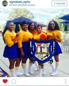 U CONN  - SGRHO! Hattie Mcdaniel, Butler University, Divine Nine, Sigma Gamma Rho, Royal Blue And Gold, Sister Friends, Sorority Life, Sorority And Fraternity, Historical Pictures