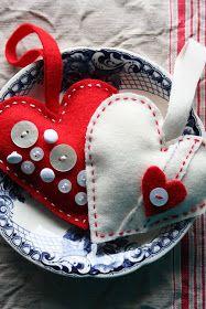 Needlework inspiration: Felt hearts