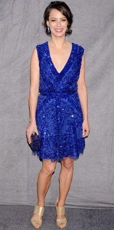 JANUARY 15, 2012 Berenice Bejo WHAT SHE WORE The actress lit up the carpet of the Critics' Choice Movie Awards in head-to-toe sparkle including a plunging Elie Saab dress, Edie Parker box clutch and gold Jimmy Choo sandals.