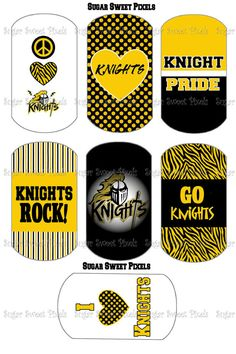 INSTANT DOWNLOAD Knights School Mascot Black & by sugarnspicebow