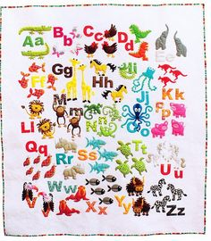 Animal Alphabet Quilt Pattern  From Don't Look Now by fabricfetish