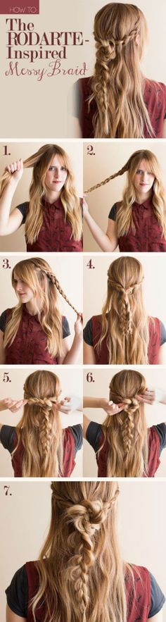 How to Messy Braid