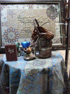 A Termeh table cloth handmade in Yazd.