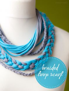 :: zweimalB :: DIY - Anleitung für einen geflochtenen Loop-Schal aus Jersey - Streifen { braided loop scraf }