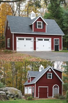 See how this Kloter Farms customer chose to add a gabled dormer in the front and a shed dormer in the back to maximize the space in their 20' x 30' 2-Story Elite Cape Garage.