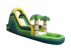 Rent the blow up Tropical Water Slide during those hot days. Participants enter the back, go up the climber, and slide down through the mist of water into the pool. Good for ages 5 and up, maximum 200 pounds/person. Call 800 873-8989 to rent.