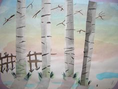 DREAM DRAW CREATE: Birch Trees, Grade 6