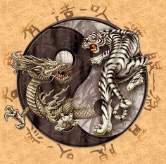 Dragon Vs Tiger Tattoo Design | Dragon designs | Pinterest | Tiger ...