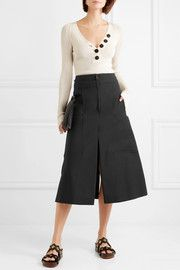 Chloé Stretch-cotton midi skirt