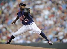 Samuel Deduno #21 of the Minnesota Twins delivers a pitch against the Baltimore Orioles during the first inning on July 17, 2012 at Target Field in Minneapolis, Minnesota