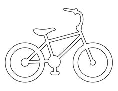 Bike pattern. Use the printable outline for crafts, creating stencils, scrapbooking, and more. Free PDF template to download and print at http://patternuniverse.com/download/bike-pattern/