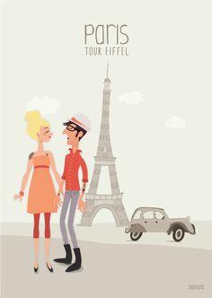 Illustration de Paris, la tour Eiffel by #seveusmz.