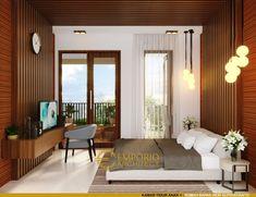 Desain Rumah Villa Bali 2 Lantai Bapak Heri Supriatianto di Bandung Bali, Villa, Curtains, Studio, Modern, Home Decor, Blinds, Trendy Tree, Studios