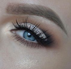 Glitter and lashes