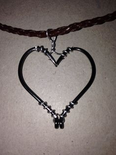 Super cute fish hook heart necklace!