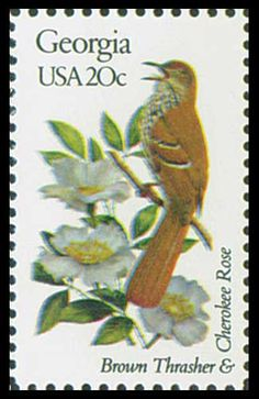 1982 20c Georgia State Bird & Flower - Catalog # 1962 For Sale at Mystic Stamp Company