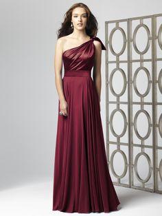 burgandy BM dress...<3