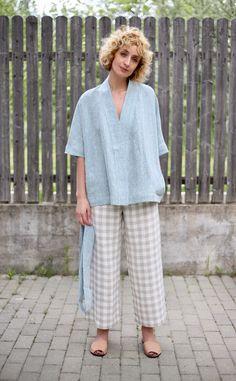 Kimono Fashion, Fashion Outfits, Nightgown Pattern, Casual Tops For Women, Blazers, Minimal Fashion, Comfortable Outfits, Blouse Designs, Lounge Wear