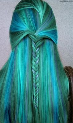 Iloveyoupink.com adores blue and teal hair girly hair blonde pretty colorful hair blue hair