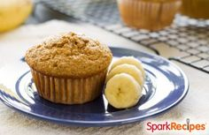 Low Calorie Banana Muffins Recipe via @SparkPeople