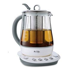 Mr. Coffee 1.2 L Hot Tea Maker and Kettle with Precise Steeping Technology White, HTK100
