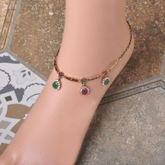 Wholesale Waterdrop Ankle Bracelet Foot Jewelry Turkish Vintage Gold Anklets For Women Girls Cheville Barefoot Sandals Anklet - Hespirides Gifts - 1