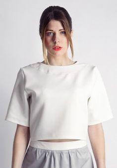 Crop Top - White BUY IT NOW ON www.dezzy.it!