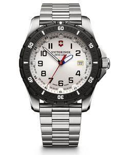 Victorinox Swiss Army Mens Maverick Sport - White Dial - Bracelet