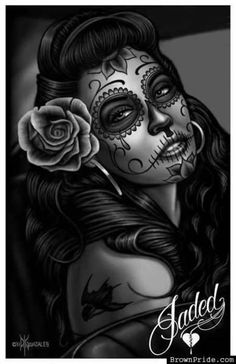 Sugar skull woman, tattoo idea, dia de Las muertes