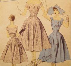 50s pattern 032 custom order dress [pattern 032] - £49.99 : Queen of Holloway, Dressing Shop