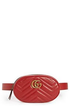 9cf92339de8 GUCCI Designer GG Marmont Matelasse Leather Belt Bag