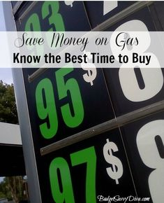 How to Save Money on Gas (Best Time to Buy)