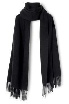 Weekday image 4 of Tuva Wool Shawl in Black
