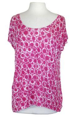 08584b8d42ce NEW MICHAEL Michael Kors Womens Shirt Cold Shoulder Top Printed Radiant  Pink L  MichaelKors