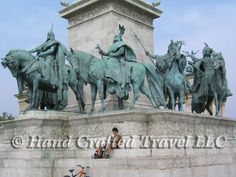 Travel Picture: Day 179. Statues representing the leaders of the seven Magyar tribes who founded Hungary in the 9th century. Budapest, Hungary