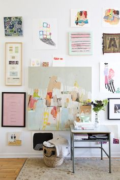 white and bright gallery wall