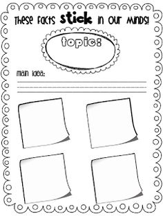 Sarah's First Grade Snippets: Graphic Organizer  These facts 'stick' in our minds