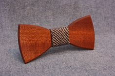 "Handcrafted wooden bow tie Made of Sapele #wood / 100% cotton Size: 115x55mm (4.5"" x 2.1"") Packing size: 140х90х30mm (5.5"" x 3.6""x 1.2"")  All the products we carefully polis... #woodenbowtie #penguinbowties #bowties #accessories #tie #handicraft"