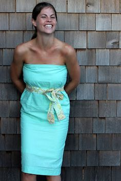 strapless blue dress sew along | kojodesigns