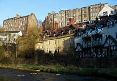 Dean Village: here you can carry on to Stockbridge and walk all the way down to The Shore in Leith.