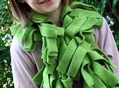 Felt scarves?! Could be exciting for homeless children to create.
