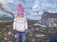 """David Lihard """"Après la pluie 1/2"""" (diptyque), huile sur toile, 97 x 130 cm, 2012"""
