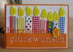 Memory Box Herzlichen Glückwunsch, Stampin' Up! Bird Punch (Flamme), Washi Tape, fröhliche Geburtstagskarte
