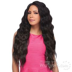 Sensationnel Synthetic Hair Empress Natural Curved Part Lace Front Wig - ADELE (futura) [8246]