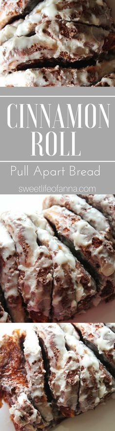 Cinnamon Roll Pull Apart Bread. This whole loaf tastes like the center of a cinnamon roll!
