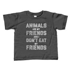 Boy's Animals Are My Friends and I Don't Eat My Friends T-Shirt Vegetarian Kids TShirt