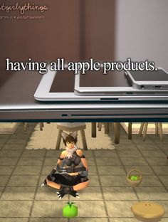 Who needs an iPad when you've got an apple pie? Not us!  Thanks to @H_u_g_g_i_e for this picture! #RuneScape