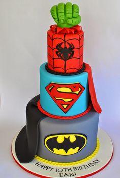Super Hero Cake, Hope's Sweet Cakes, hopessweetcakes.com